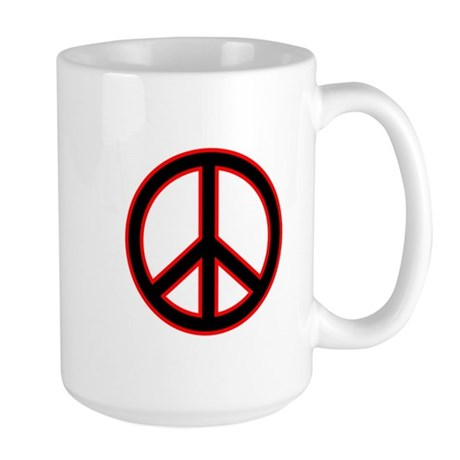 Red & Black Peace Large Mug
