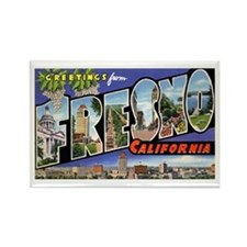 Fresno California Greetings Rectangle Magnet (10 p