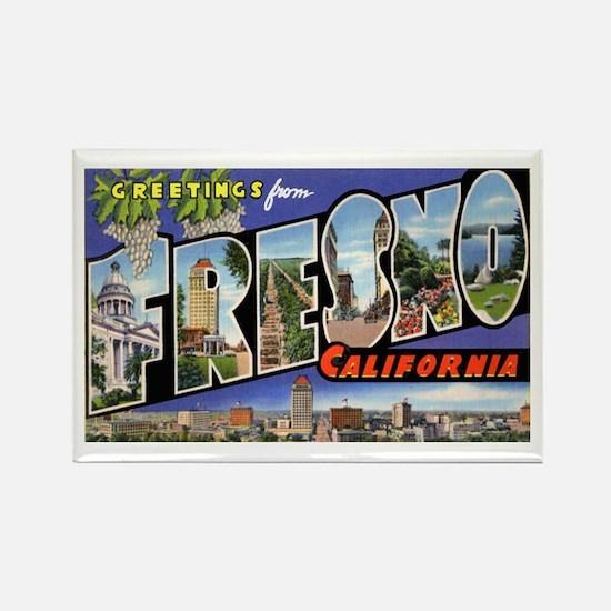 Fresno California Greetings Rectangle Magnet