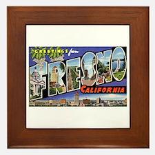 Fresno California Greetings Framed Tile