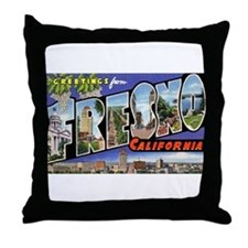 Fresno California Greetings Throw Pillow