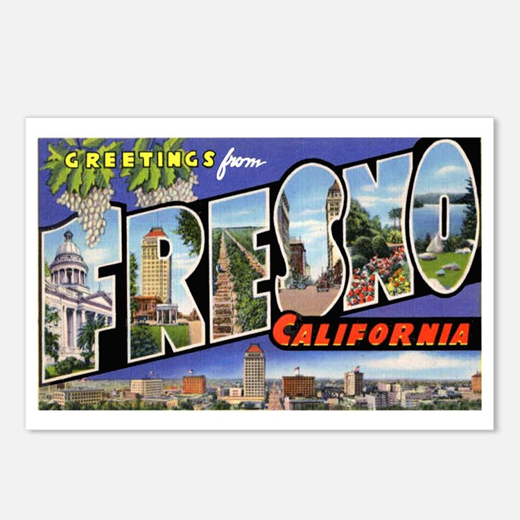 Fresno California Greetings Postcards (Package of