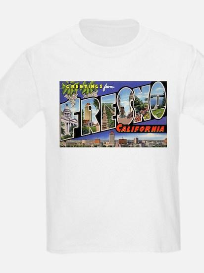 Fresno California Greetings (Front) Kids T-Shirt