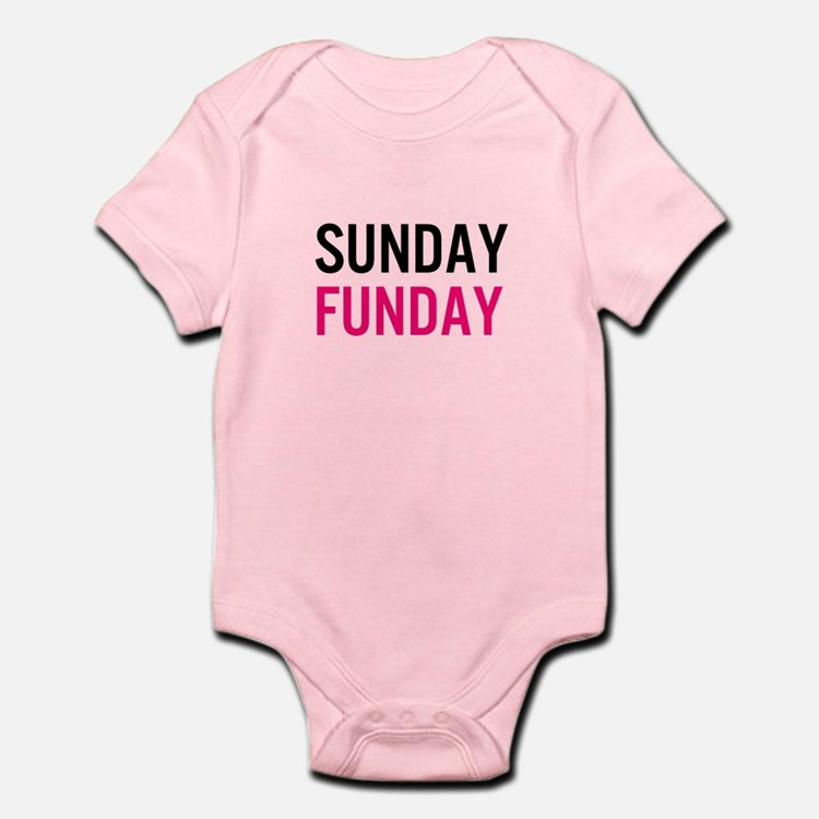 Sunday Funday (black / pink) Body Suit