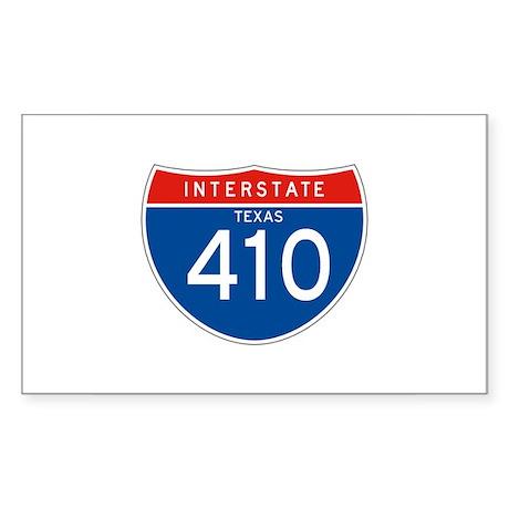 Interstate 410 - TX Rectangle Sticker