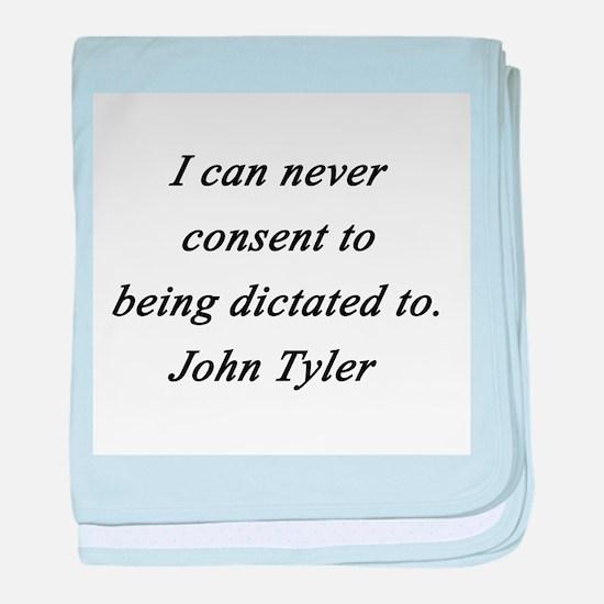 Tyler - Never Consent baby blanket