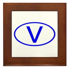 Vatican City - V Oval Framed Tile
