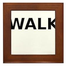 Walk Framed Tile
