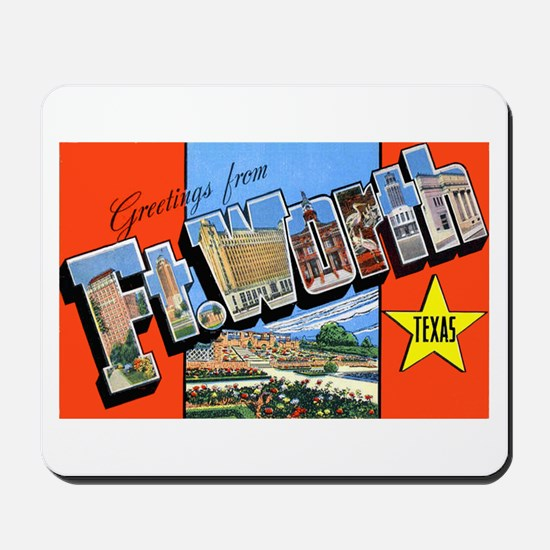 Fort Worth Texas Greetings Mousepad