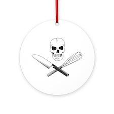 Skull Cook Ornament (Round)