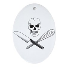 Skull Cook Ornament (Oval)