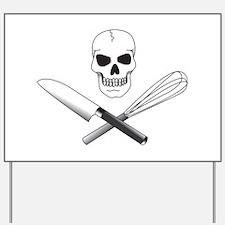 Skull Cook Yard Sign