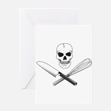 Skull Cook Greeting Card
