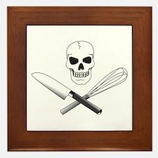 Skull Cook Framed Tile