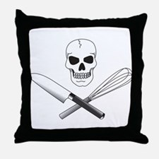 Skull Cook Throw Pillow