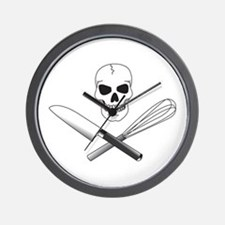 Skull Cook Wall Clock