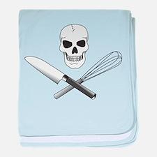 Skull Cook baby blanket