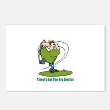 Cute Golf baby Postcards (Package of 8)