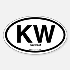 KW - Kuwait Sticker (Oval)