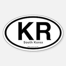 KR - South Korea Sticker (Oval)