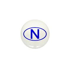 Switzerland - CH Oval Mini Button (100 pack)