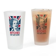 Margaret Thatcher Bitches Drinking Glass