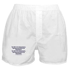 Independant or Dependant Boxer Shorts