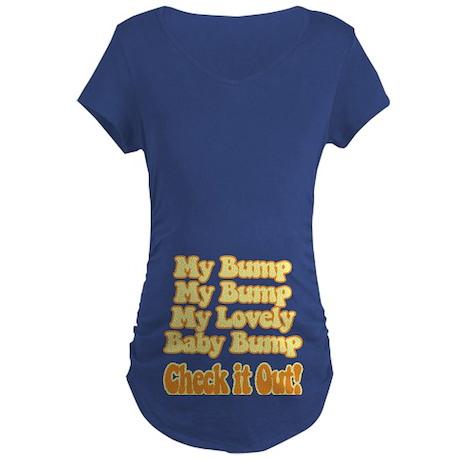 Baby Bump Maternity Dark T-Shirt