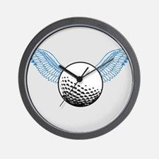 When Golf Balls Fly Wall Clock