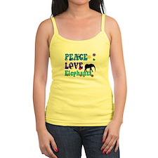 peace love elephants Tank Top