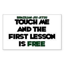 Touch me & the 1st lesson is free Decal