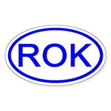 South Korea - ROK Oval Oval Bumper Stickers