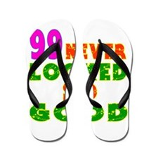 99 Birthday Designs Flip Flops