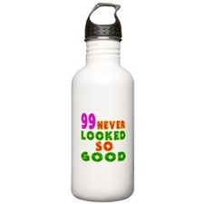99 Birthday Designs Water Bottle