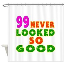 99 Birthday Designs Shower Curtain