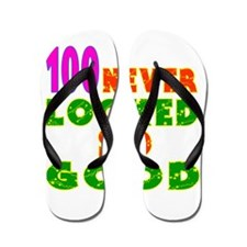 100 Birthday Designs Flip Flops