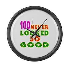 100 Birthday Designs Large Wall Clock