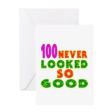 100 Birthday Designs Greeting Card