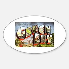 Green Bay Wisconsin Greetings Oval Decal