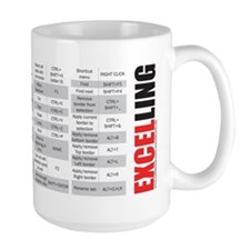 Excelling keyboard shortcuts Mug