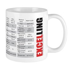 Excelling keyboard shortcuts Mug