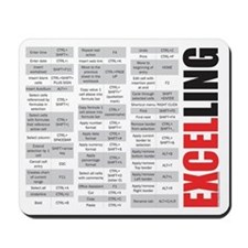 Excelling keyboard shortcuts Mousepad