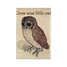 Grow Wise Little Owl Rectangle Magnet