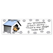 Funny Dog Nose Art Bumper Bumper Bumper Sticker