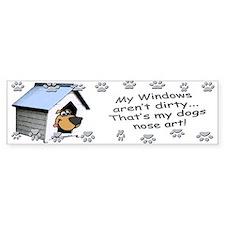 Funny Dog Nose Art Bumper Bumper Sticker
