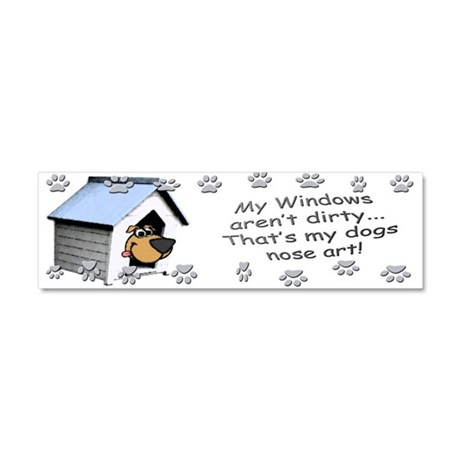 Funny Dog Nose Art Car Magnet 10 x 3