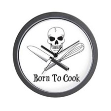 Born To Cook Wall Clock