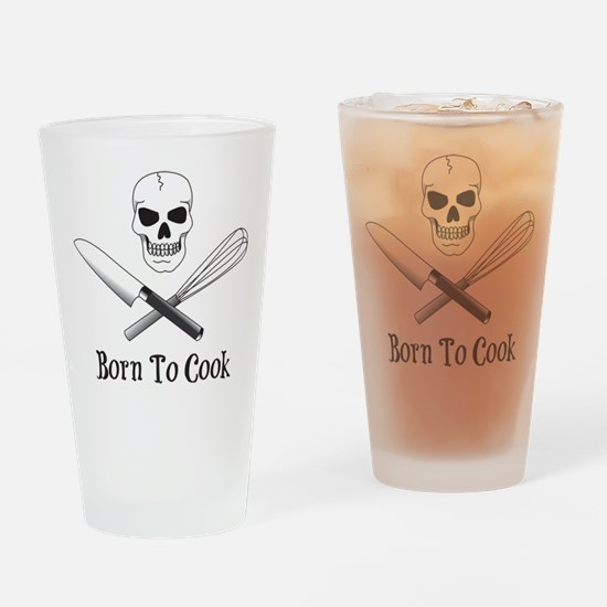 Born To Cook Drinking Glass