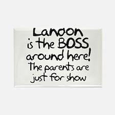 Landon is the Boss Rectangle Magnet
