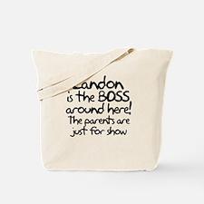 Landon is the Boss Tote Bag